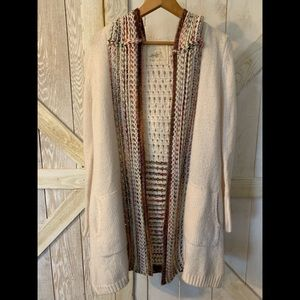 Anthropologie Angel of the North Knit cardigan S